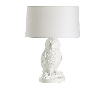 West Elm Owl Table Lamps