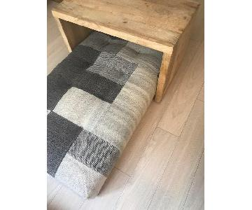 West Elm Dhurrie Slab w/ Raw Wood Table