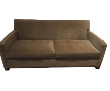 Crate & Barrel Dark Brown Sofa