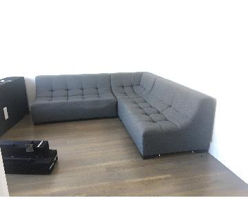 Designlush Groove Dark Grey Sofa
