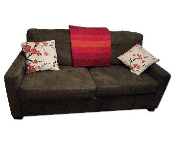 Suede Loveseat