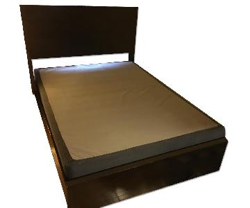 Expo Queen Size Black Wood Bed Frame
