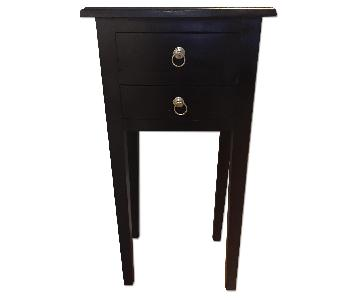 Wayfair Black Wooden Side Table