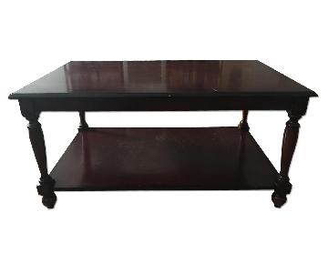 The Bombay Company Dark Wood Coffee Table