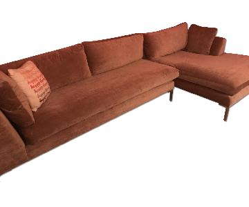 ABC Carpet and Home 2 Piece Sectional Sofa