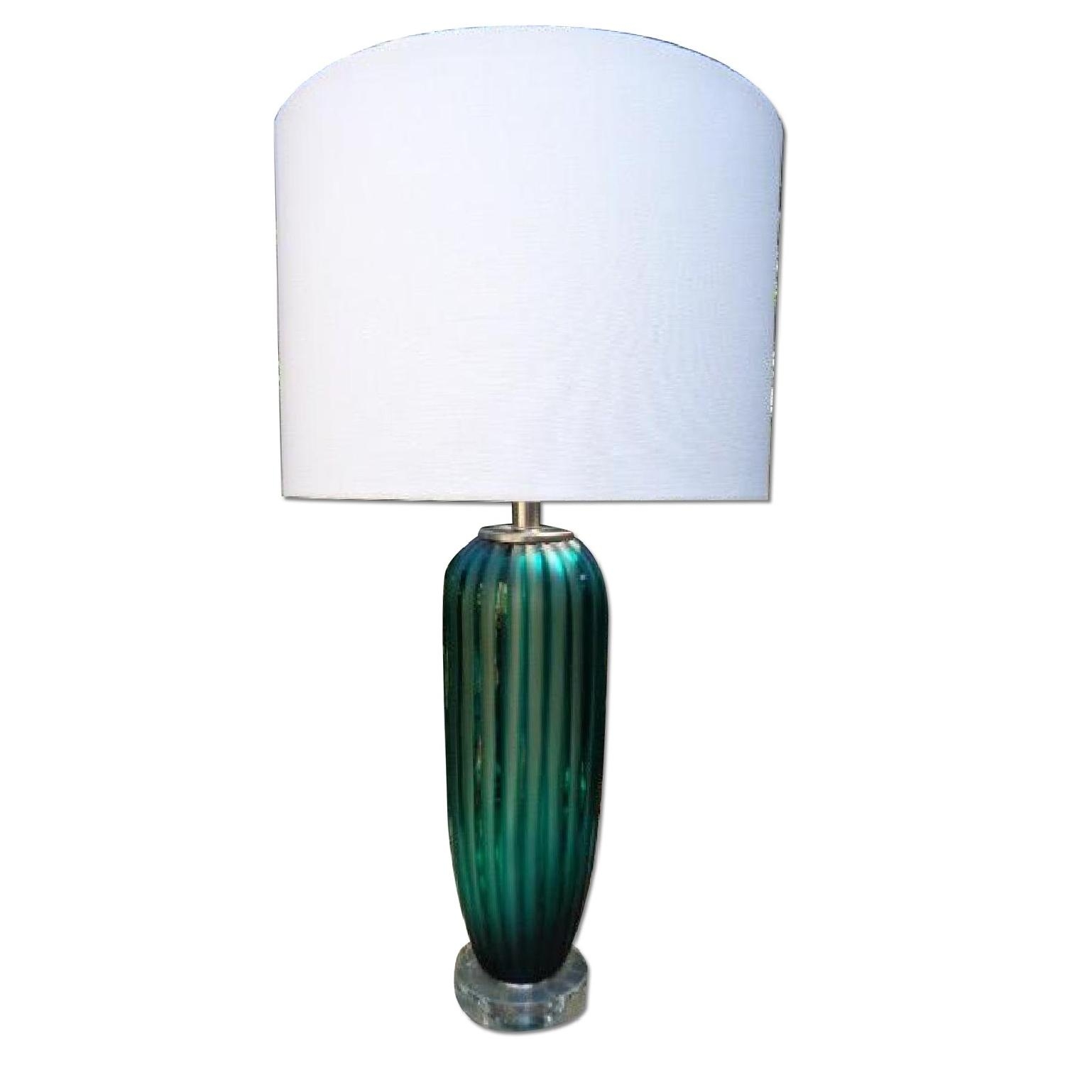 Reeded Murano Glass Table Lamp