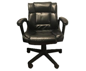 Staples Black Leather Office Chair