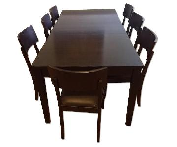 Crate & Barrel Madison Extension Dining Table w/ 8 Chairs
