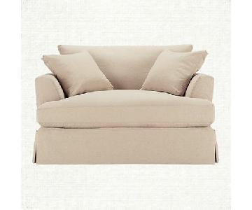 Arhaus Emory Chair & Half w/ Ottoman in Sunbrella Fabric