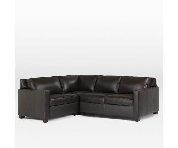 West Elm Leather Henry 3-Piece Sectional Sofa