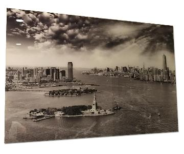NYC Landscape Tempered Glass Frame