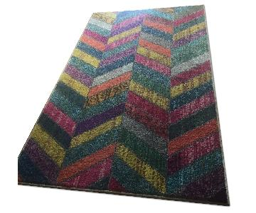 Multicolored Patterned Rug