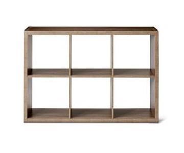 Threshold 6-Cube Organizer Shelf w/ 3 Storage Boxes