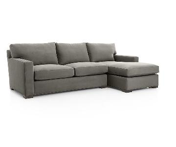 Crate & Barrel Axis Sofa w/ Chaise