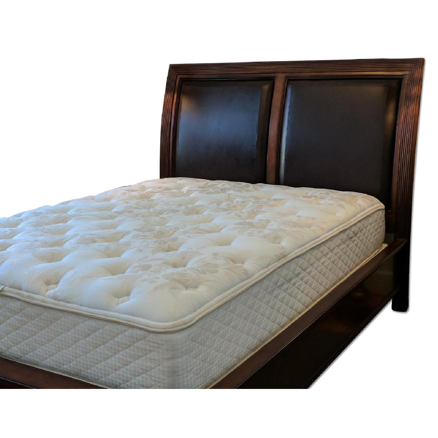 macy's queen bed frame w leather headboard  aptdeco - macy's queen bed frame w leather headboard