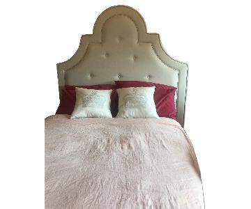 Pottery Barn Full Bed Frame w/ York Tufted Headboard