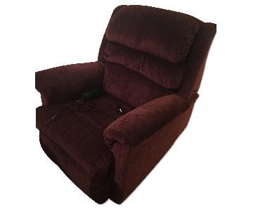 Maroon Fabric Recliner Chair