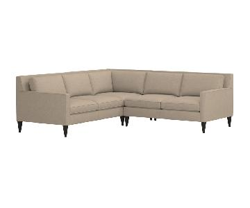 Crate & Barrel Rochelle Sectional Sofa