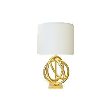 World's Away Nathan Gold Table Lamp