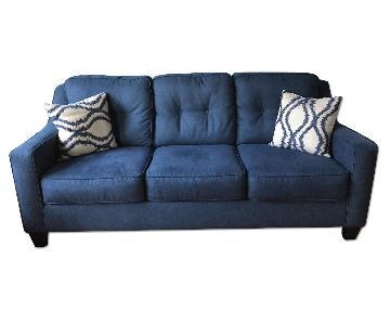Ashley's Sofa + Loveseat + Chair & Ottoman + 4 Pillows