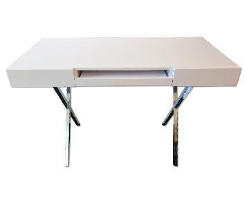 AllModern White Computer Desk w/ 2 Drawers