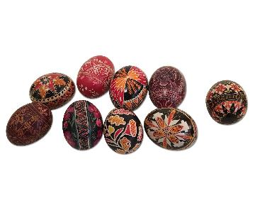 Antique Hand Painted Eggs