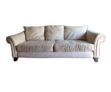 Alan White Natural Colored 3 Seater Sofa