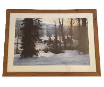 Robert Duncan Framed Native American Horse Winter Print