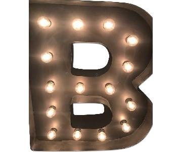 Metal Lighted B Sign