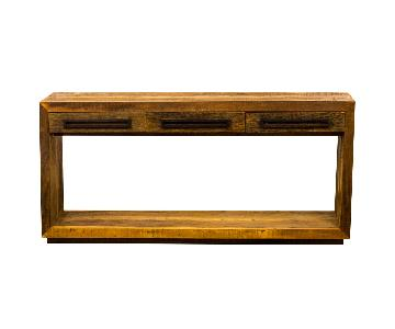 Antique Reclaimed Wood Modern Design Console Table