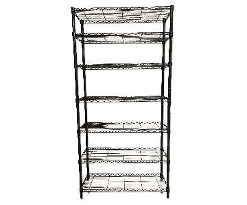 Container Store InterMetro 7-Shelf Black Metal Shelving Unit