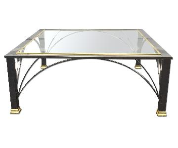 Design Institute Vintage Modern Chrome & Brass Coffee Table