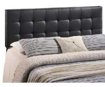 Ethan Allen Leather Full Bed Frame w/ Headboard