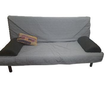 Ikea Beddinge Lovas Gray Futon w/ Cover & Pillows