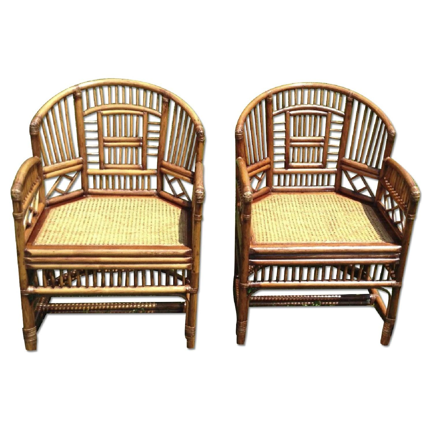 Captivating Vintage Brighton Style Bamboo Arm Chairs ...