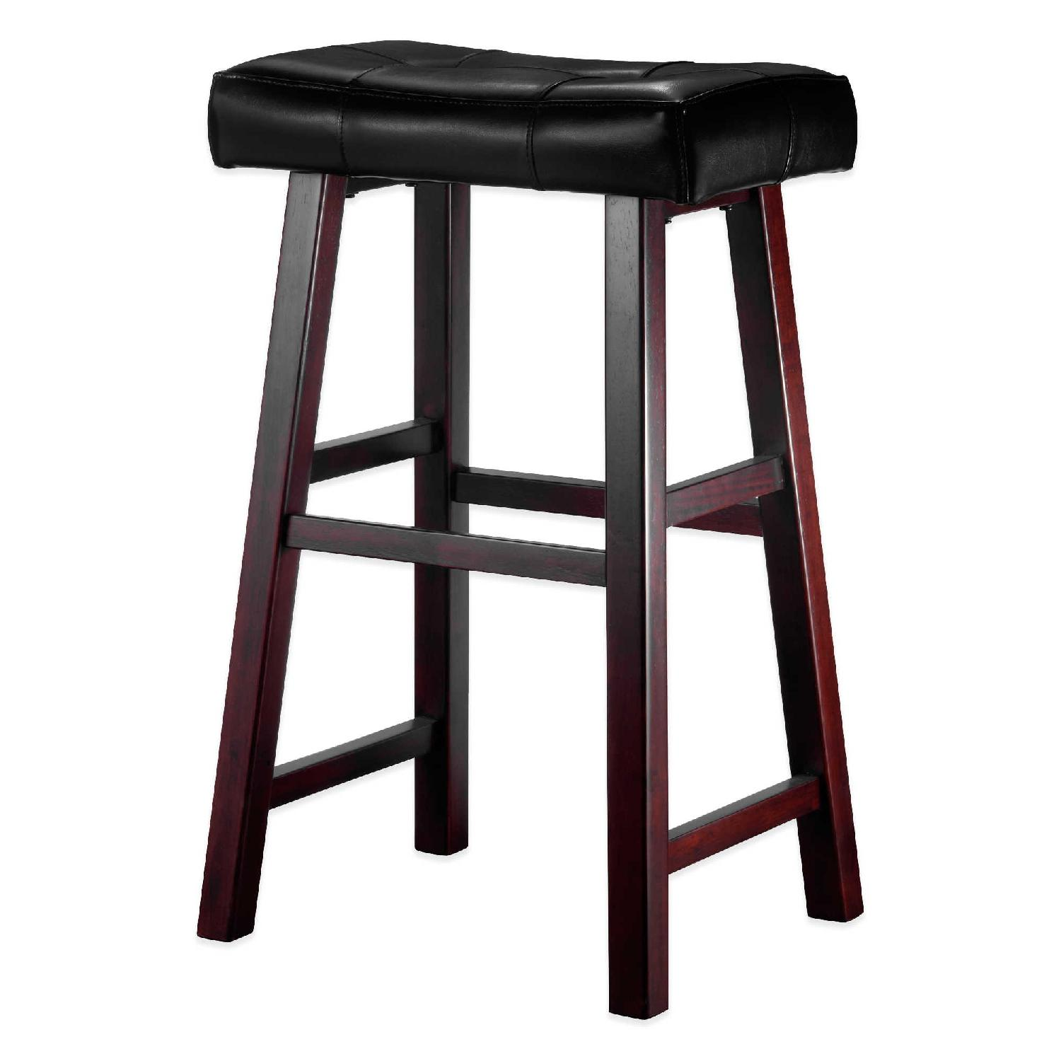 Ampersand Padded Saddle Stool In Brown Aptdeco