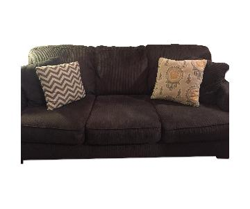 Ashley's Pewter Microfiber/Corduroy Couch