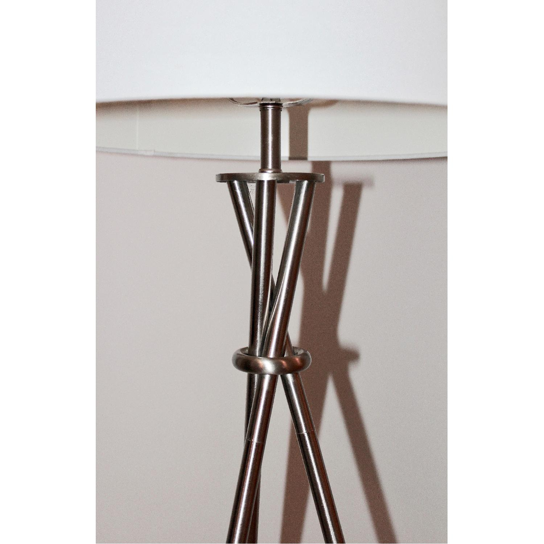 catalina 3 way tripod brushed floor lamp aptdeco. Black Bedroom Furniture Sets. Home Design Ideas