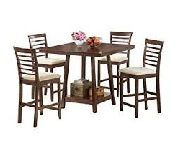 Kelsey's Collection Counter Height 5 Piece Square Dining Set
