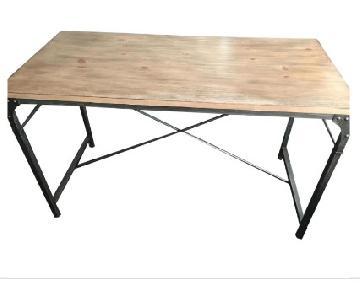 Rustic Metal & Wood Desk