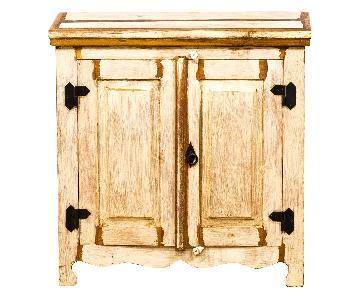 Eco-Friendly Reclaimed Wood 2 Door Cabinet