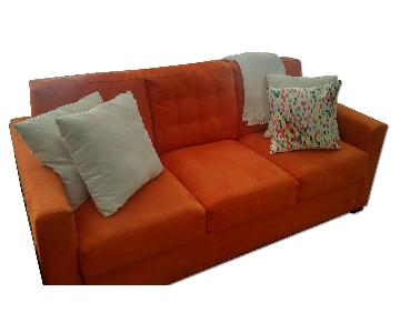 Crate & Barrel Oversized Love Seat w/ Queen Pull out