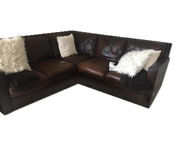 Find Brooklyn Dark Brown Leather L-Shaped Sofa