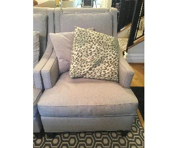 West Elm Gray Accent Chair