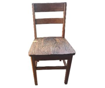 Antique Wooden School Chair