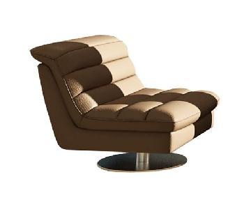 AllModern Leather Swivel Side Chair