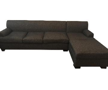 Grey/Blue Sectional Sofa