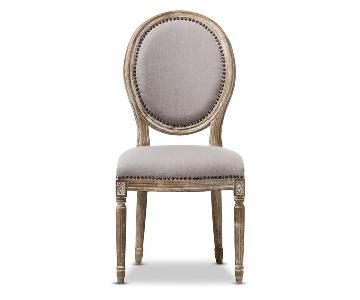 Baxton Studio Traditional Beige Fabric Dining Chairs