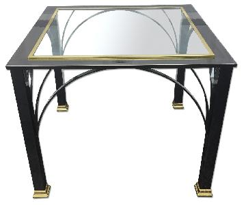 Design Institute Vintage Modern Chrome & Brass End Table