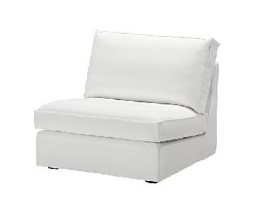 Ikea White Chair and a Half